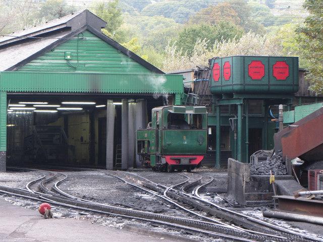 Snowdon Mountain Railway sheds at Llanberis