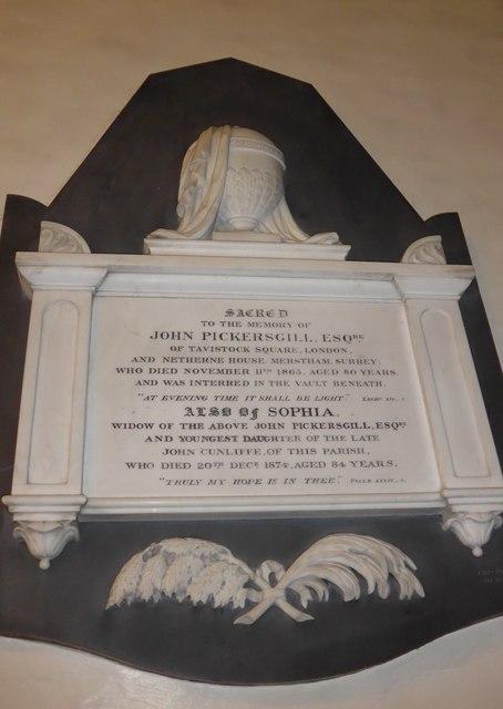 St Peter, Addingham: memorial (XXI)