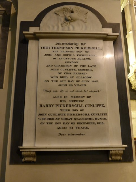 St Peter, Addingham: memorial (XXI)