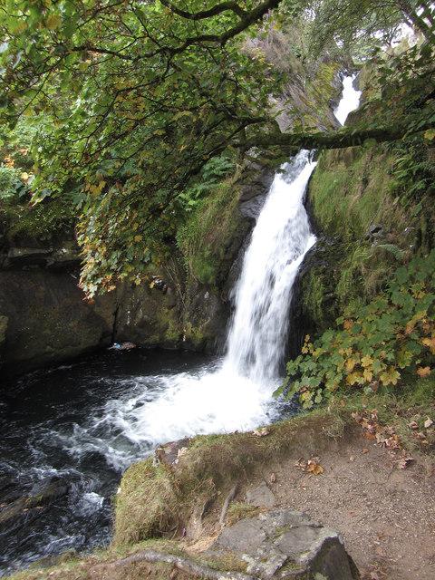 Waterfall on the Afon Hwch in Llanberis