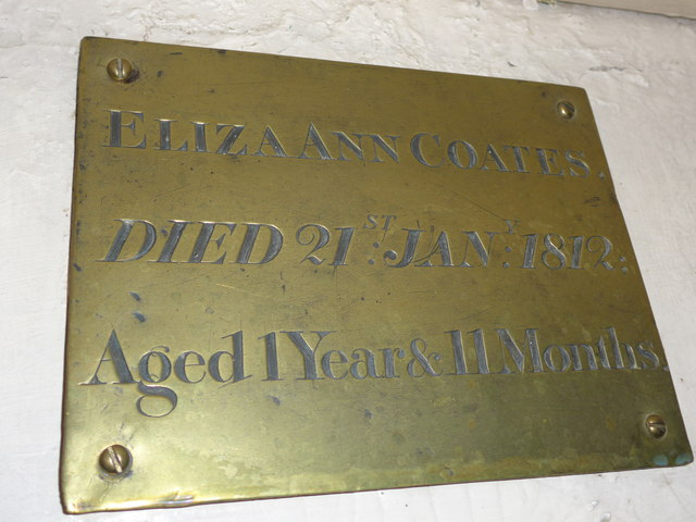 St Peter, Addingham: memorial (XXV)