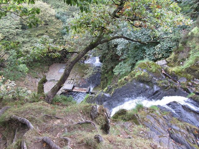 Looking down the waterfalls on the Afon Hwch in Llanberis