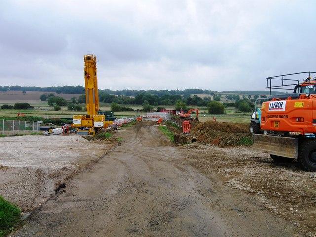 Replacing railway bridge