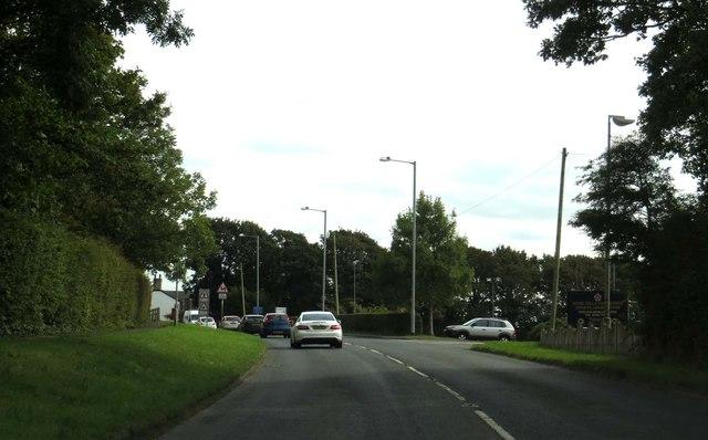 Hall Gate Lane into Stalmine