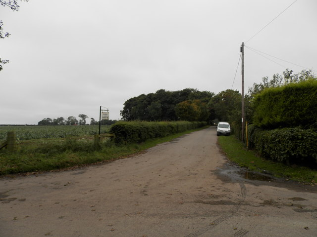 Farm road to West Scryne