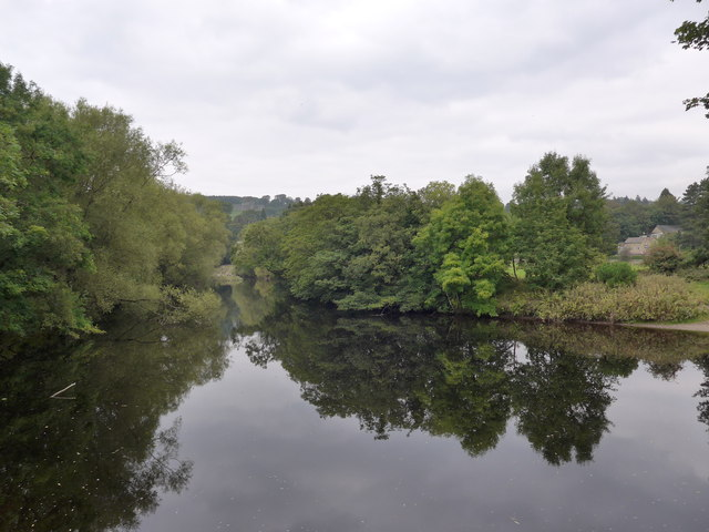 Reflections in the water at the start of The Dales Way