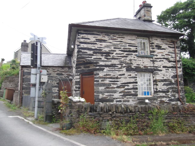 Railway Lodge at the Ffestiniog Railway Crossing, Minffordd