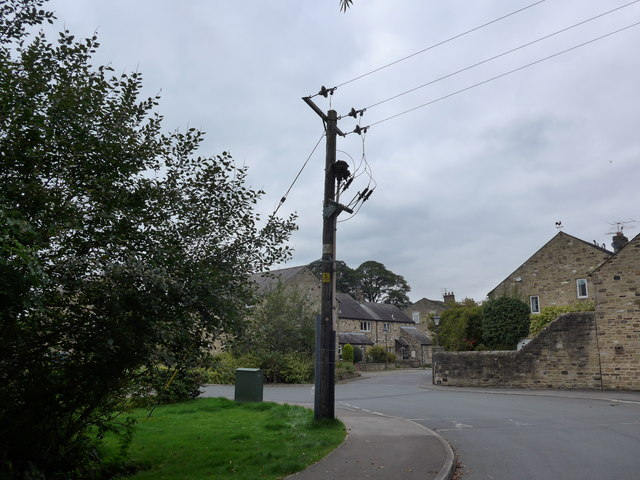 Telegraph pole in Old Lane