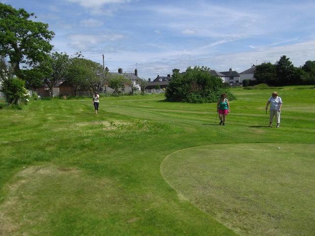 Mini golf course at Criccieth