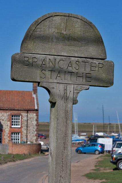 Village sign, Brancaster Staithe