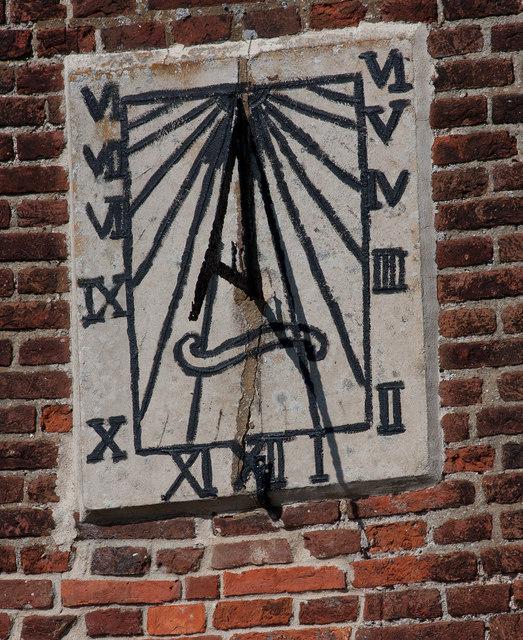 Rustic sundial, Brancaster Staithe