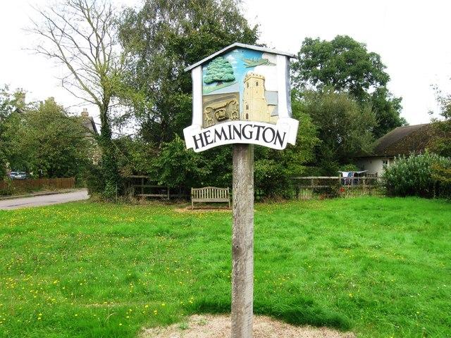 Hemington signpost