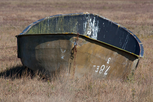 Small boat in the saltmarsh