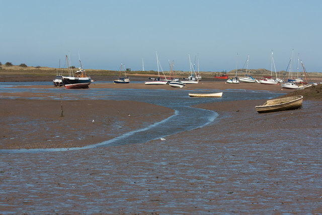 Tide out at Brancaster Staithe