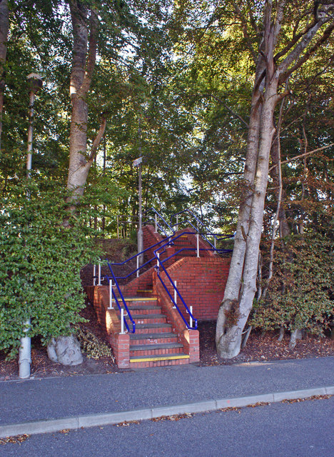 Steps to the station