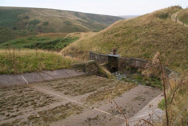 Sluice on Wessenden Head Reservoir spillway