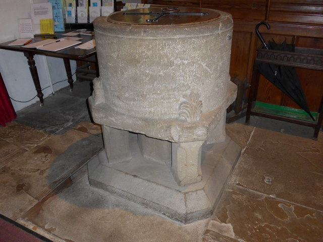 St. Mary, Kettlewell: font