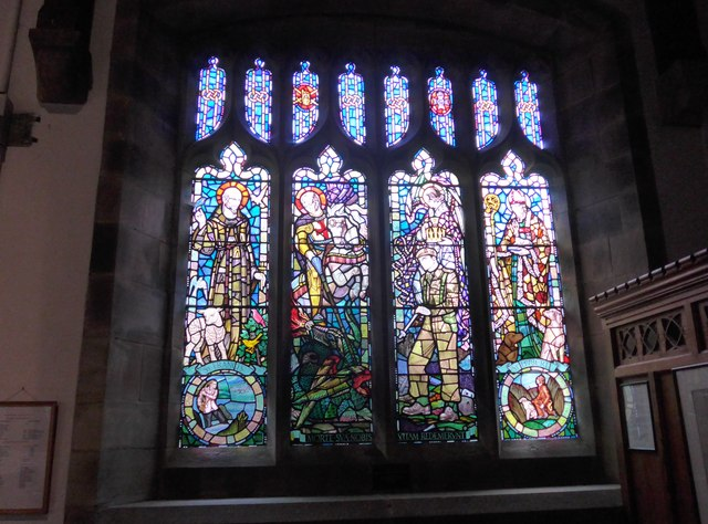 St. Mary, Kettlewell: stained glass window (a)