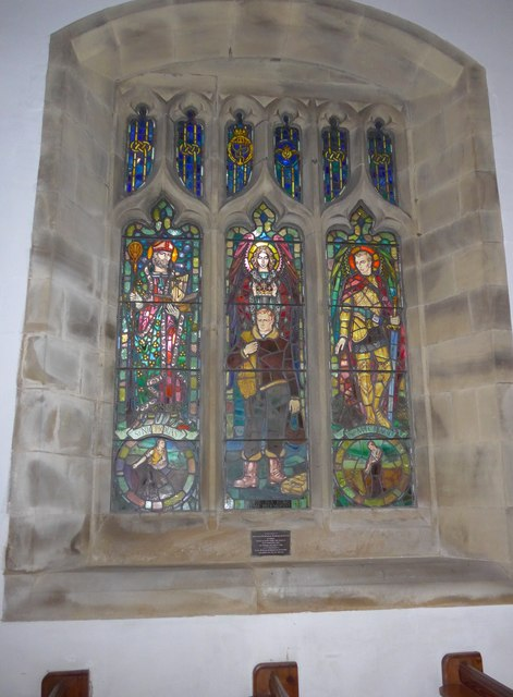 St. Mary, Kettlewell: stained glass window (b)