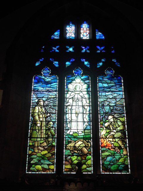 St. Mary, Kettlewell: stained glass window (d)
