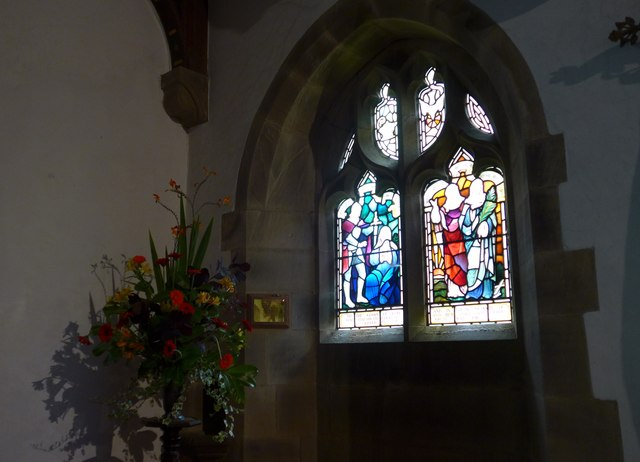 St. Mary, Kettlewell: stained glass window (e)