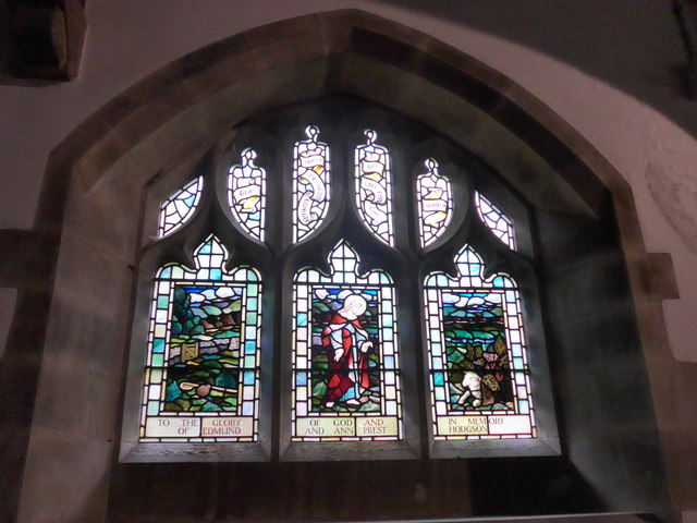 St. Mary, Kettlewell: stained glass window (f)