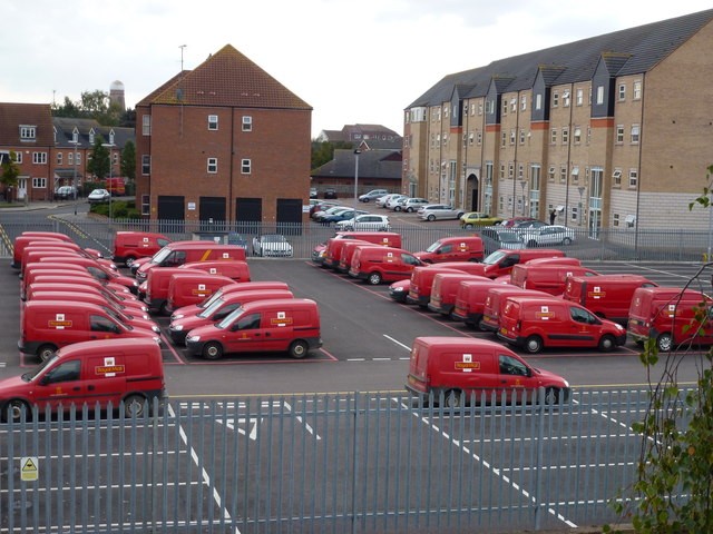 No deliveries on Sunday - Royal Mail vans in Lincoln