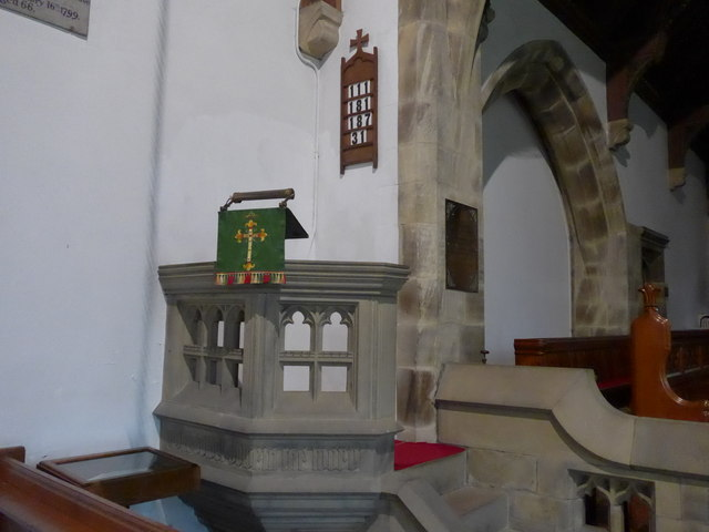 St. Mary, Kettlewell: pulpit
