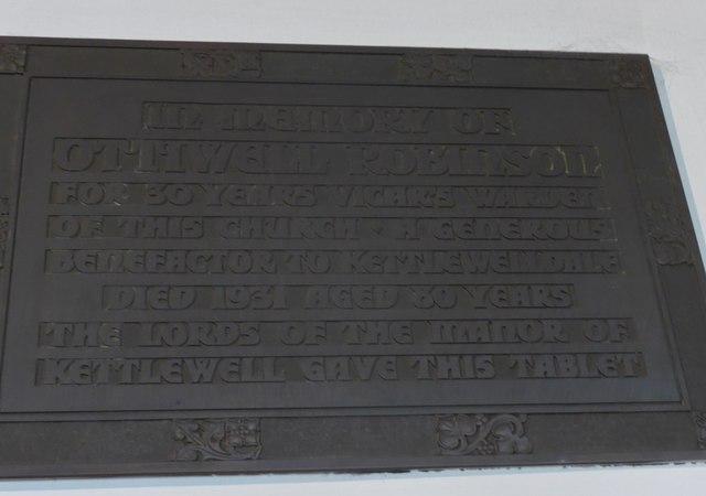 St. Mary, Kettlewell: memorial (IV)