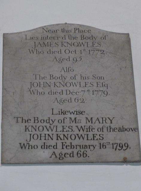 St. Mary, Kettlewell: memorial (V)