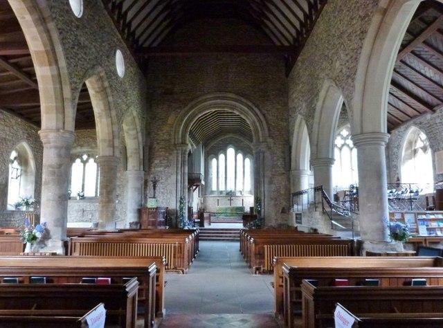 Interior of Holy Trinity Church, Bosham