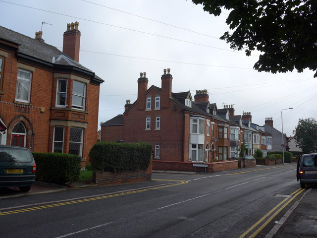 Looking across Toothill Road towards Gladstone Street