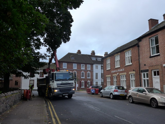 Grabber lorry in Steeple Row