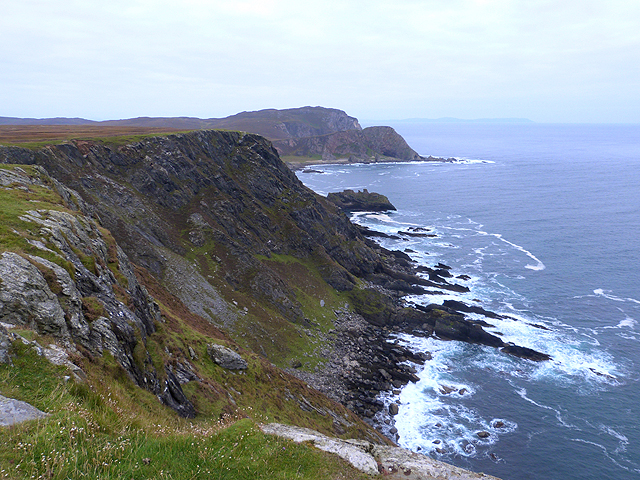 Cliffs to the east of the Mull of Oa