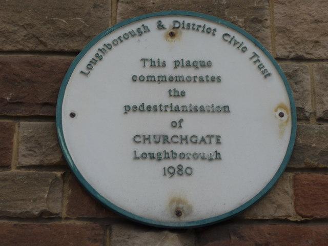 Plaque in Church Gate