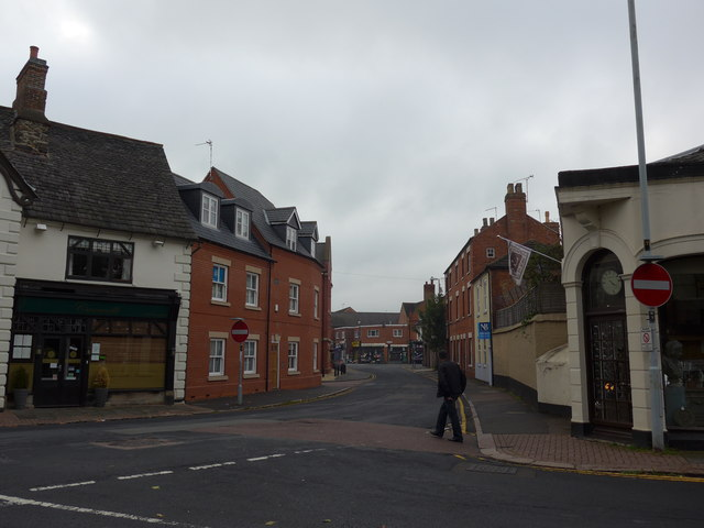 Pedestrian heading from Steeple Row to Church Gate