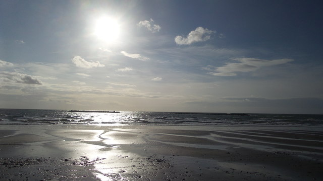 The beach at Borth