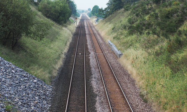 Settle to Carlisle Railway heading towards Kirkby Stephen station