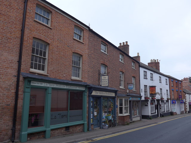 Shops in Leicester Street
