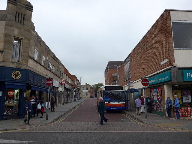 Junction of Windsor Street into Sherrard Street