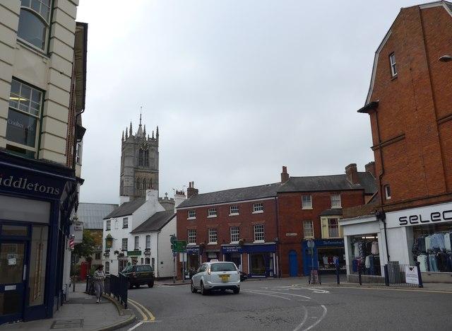 View from Sherrard Street towards the parish church