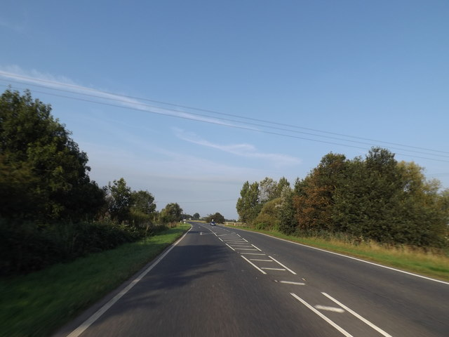 A10 approaching the junction with Camel Road