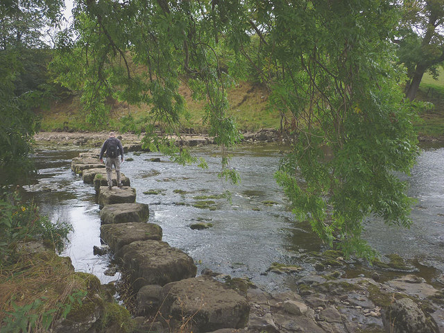 Crossing the Ure at Slapestone Wath