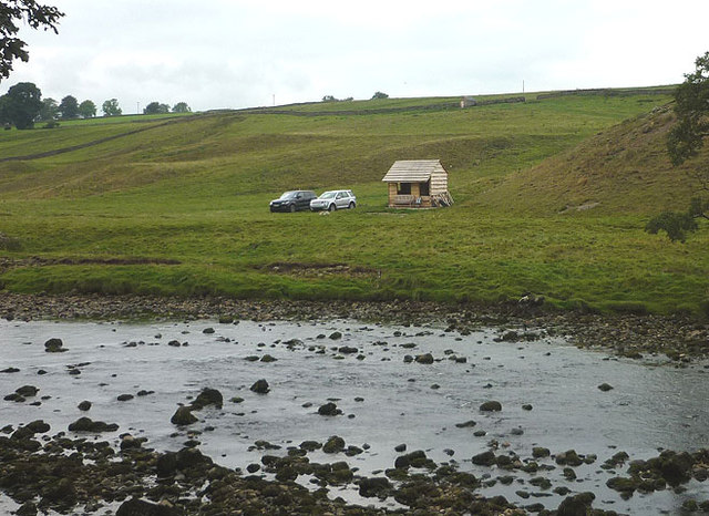 New fishing hut by the Ure