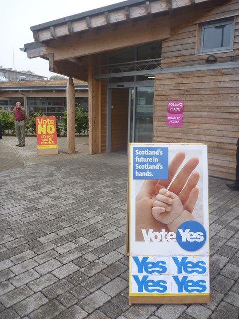 East Lothian Townscape : Polling Station, Bleachingfield Centre