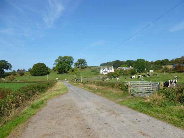 Minor road at Strathmaddie
