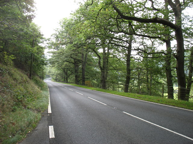 The A470 south of Rhayader