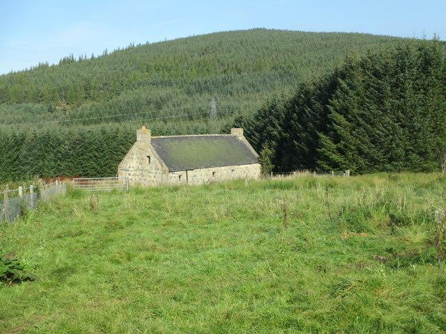 Abandoned croft above Cromdale