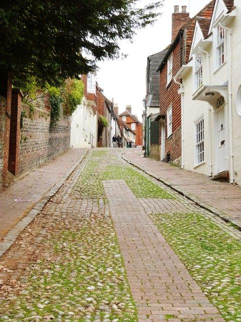 The top end of Keere Street, Lewes East Sussex