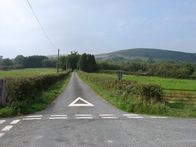The lane to Blaenglynolwyn